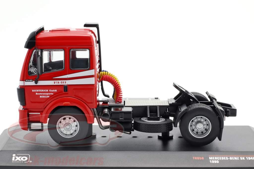 Mercedes-Benz SK 1948 Vrachtwagen Bouwjaar 1990 rood 1:43 Ixo