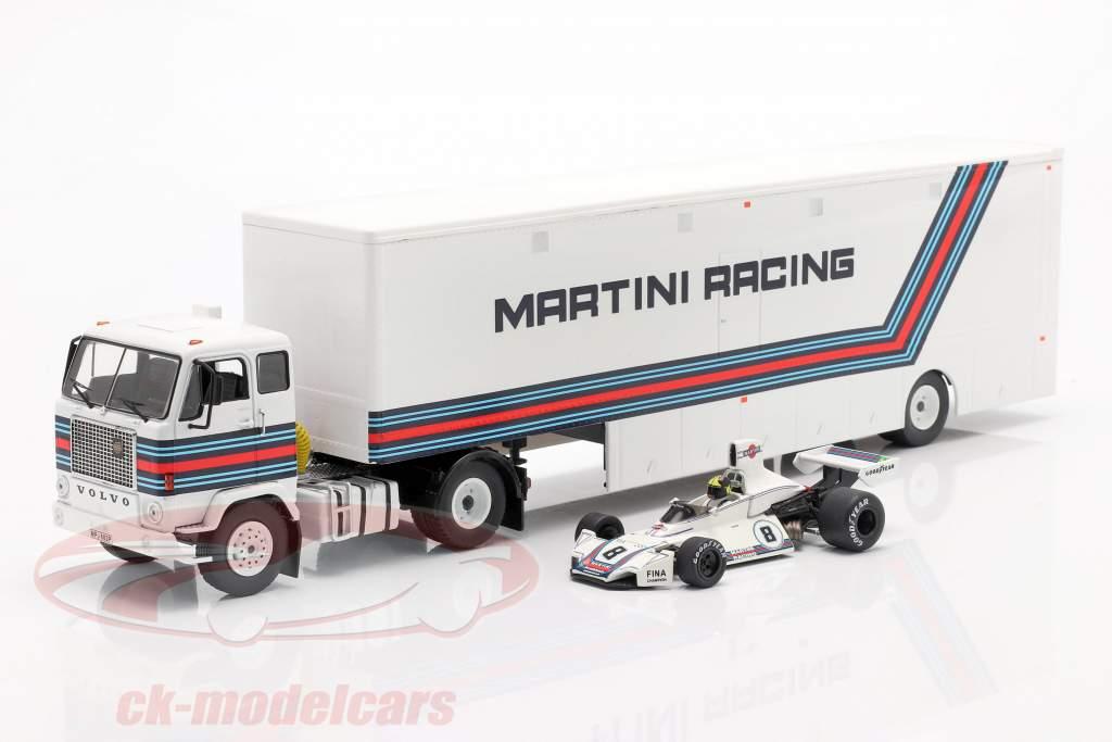 Volvo F88 Racetransporter Brabham Martini Racing formule 1 1:43 Ixo
