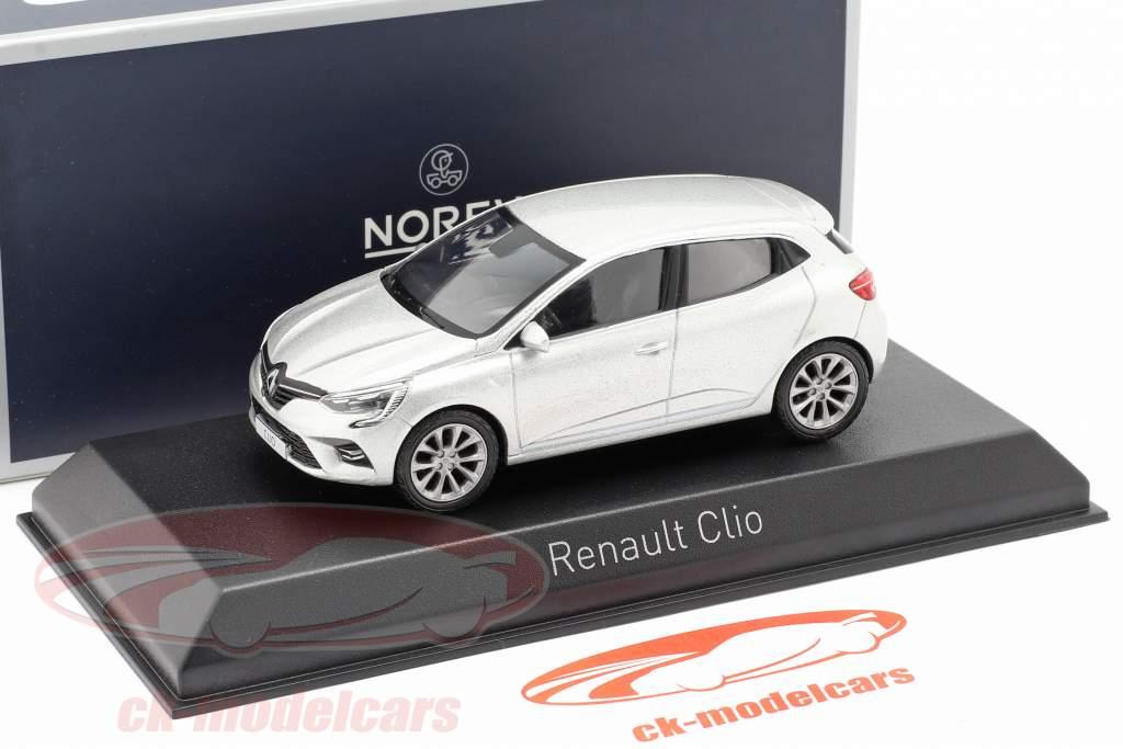 Renault Clio Ano de construção 2019 platina prata 1:43 Norev
