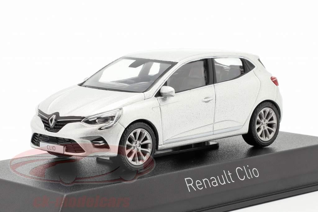 Renault Clio Année de construction 2019 platine argent 1:43 Norev