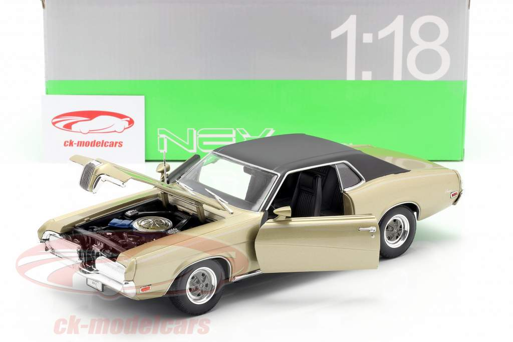 Mercury Cougar XR7 Ano 1970 ouro 1:18 Welly