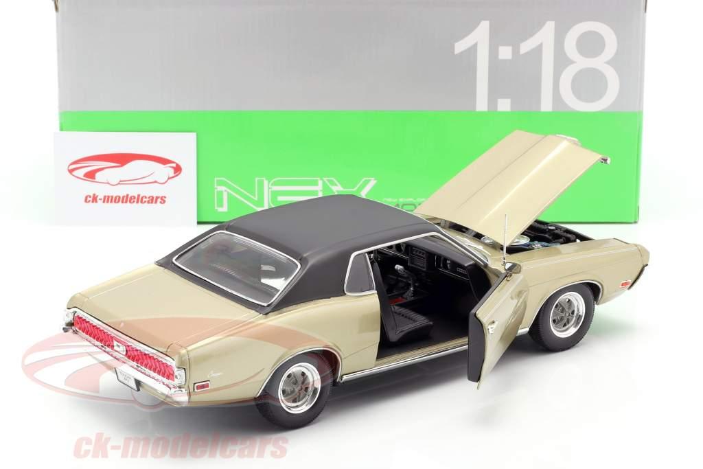 Mercury Cougar XR7 Jaar 1970 goud 1:18 Welly