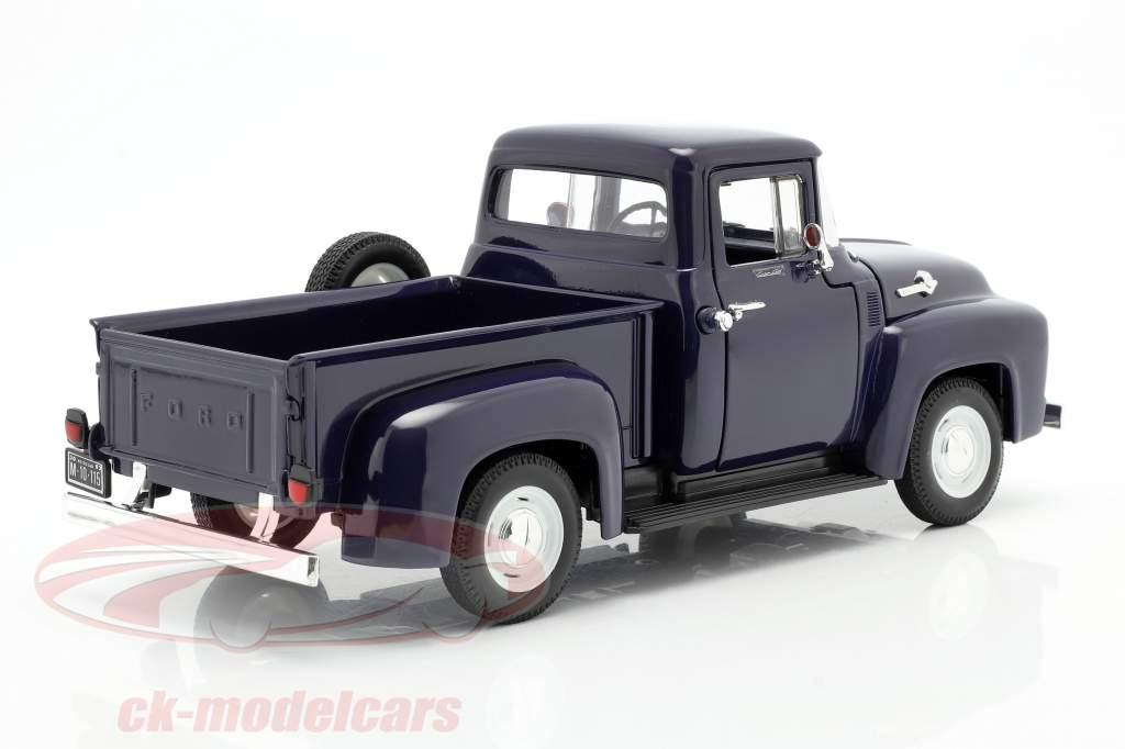 Ford F-100 Pick Up Anno 1956 blu 1:18 Welly