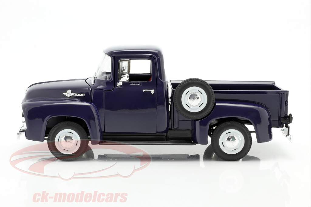 Ford F-100 Pick Up Año 1956 azul 1:18 Welly