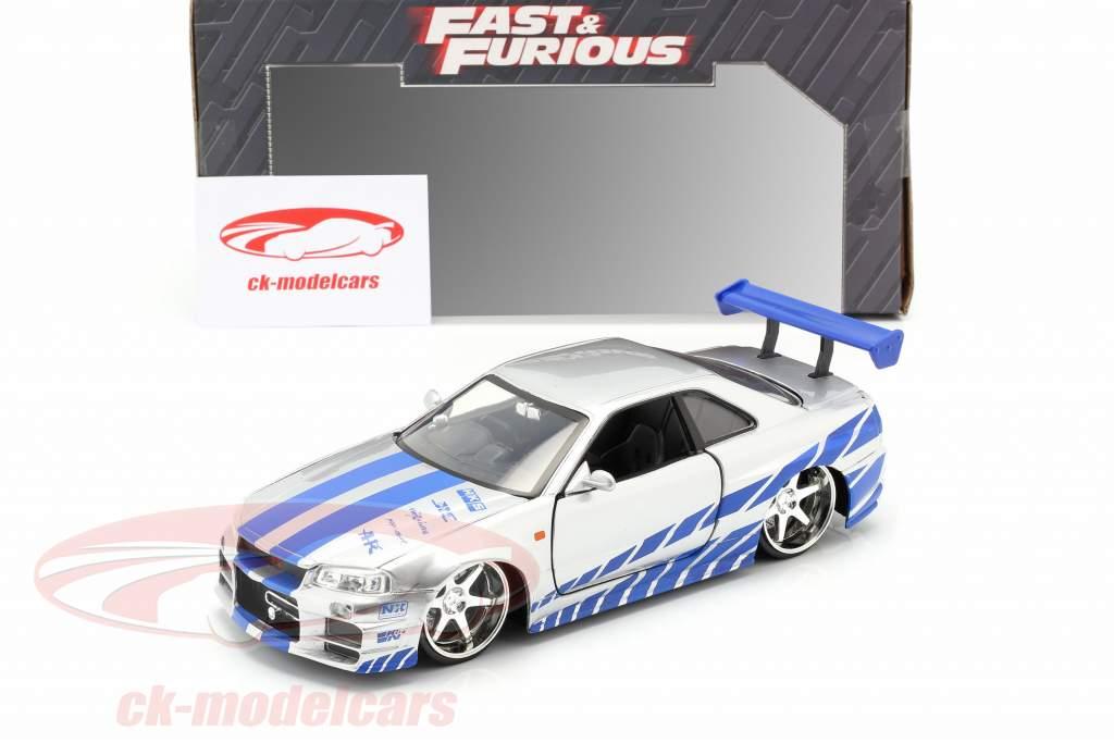 Brian's Nissan Skyline GT-R (R34) Filme 2 Fast 2 Furious 2003 1:24 Jada Toys