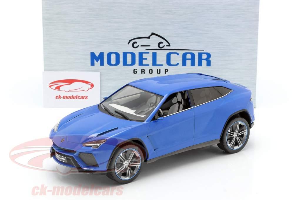 Lamborghini Urus bleu métallique 1:18 Model Car Group