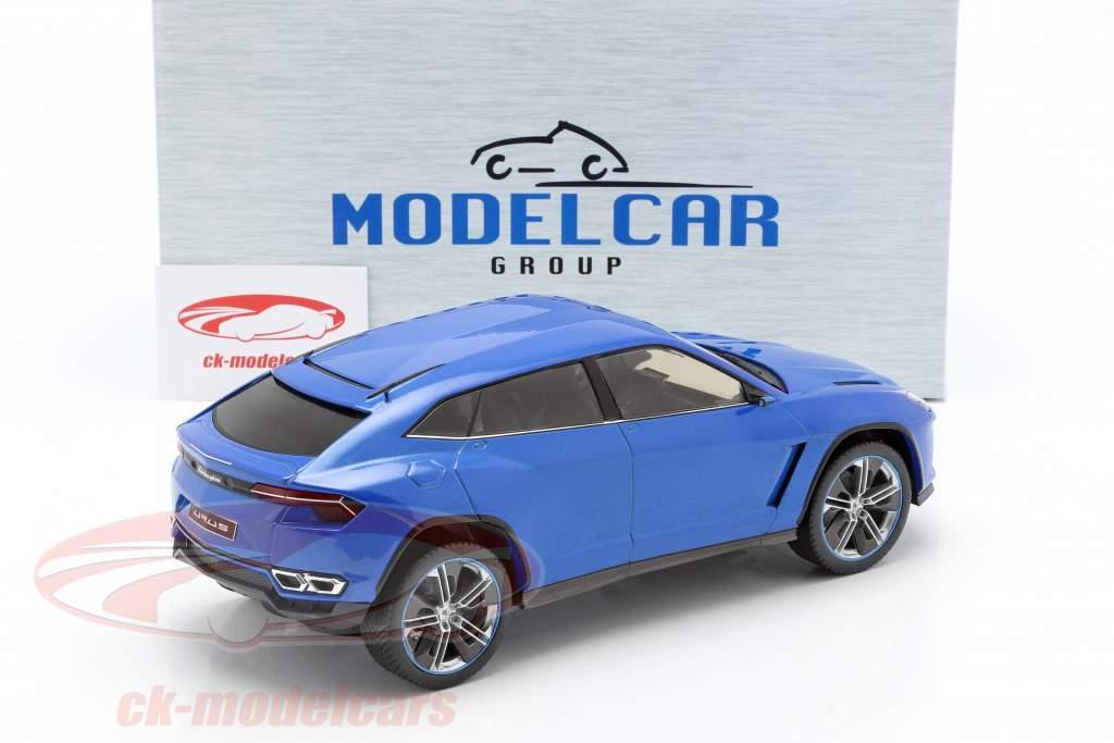 Lamborghini Urus azul metálico 1:18 Model Car Group
