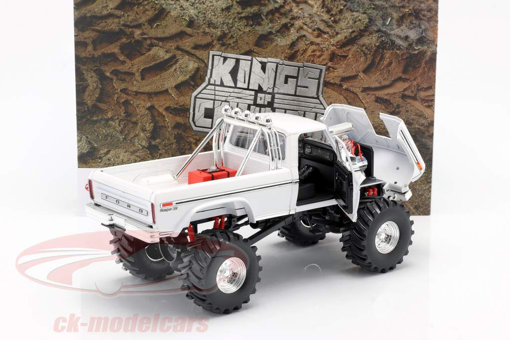 Ford F-250 Monster Truck 48 inch tires 1979 white 1:18 Greenlight