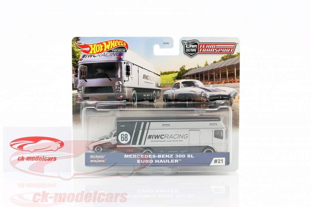 Set Team Transport: Mercedes-Benz 300 SL & Euro Hauler 1:64 HotWheels