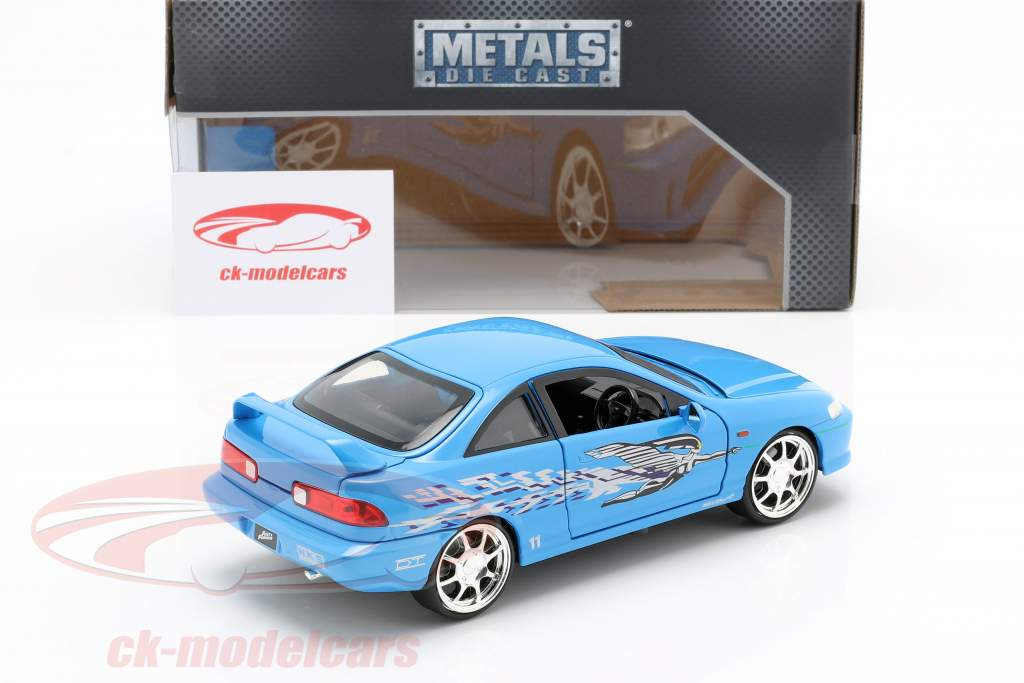 Mia's Honda Acura Integra 1995 Film Fast & Furious (2001) blu 1:24 Jada Toys