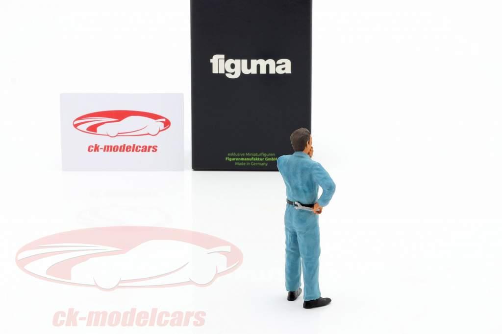 mecánico con azul mono pensativo figura 1:18 FigurenManufaktur