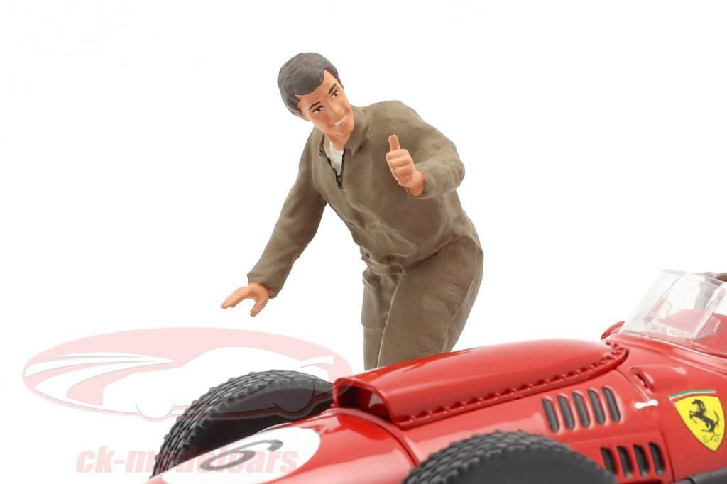 Mechaniker mit braunem Overall Daumen hoch Figur 1:18 FigurenManufaktur