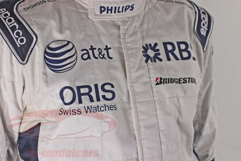 Véritable Formule 1 Chauffeur Course Costume Nico Hülkenberg Williams F1 Team 2010