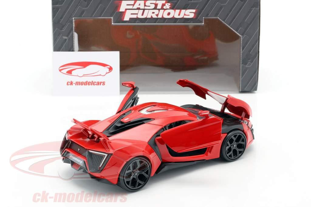 Lykan Hypersport de o Filme Fast e Furioso 7 2015 vermelho 1:24 Jada Toys