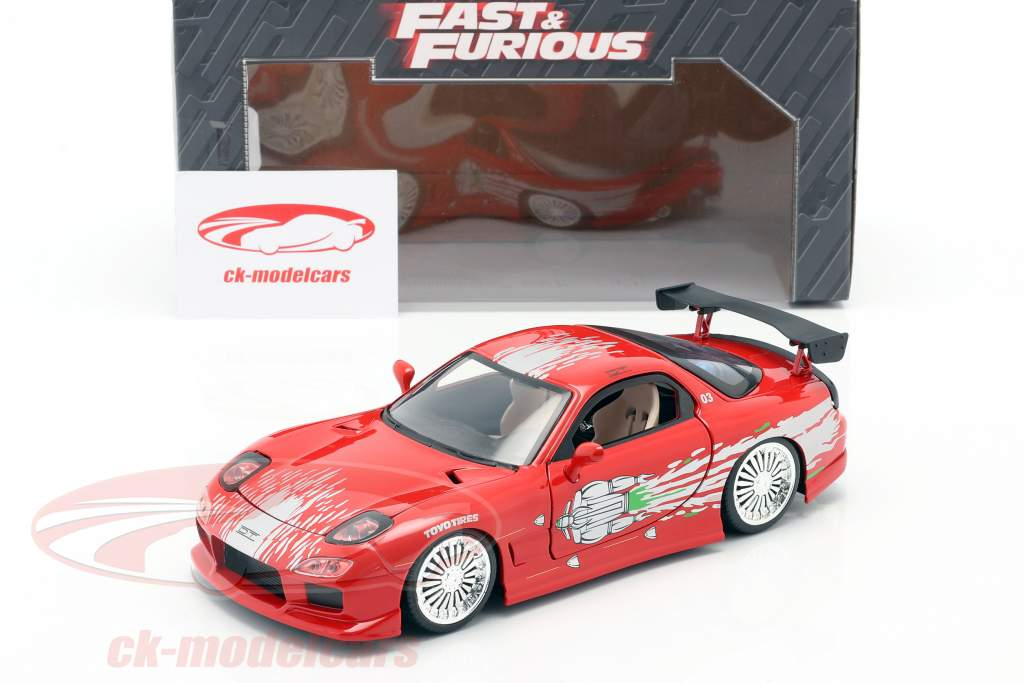Dom's Mazda RX-7 Fast and Furious rojo 1:24 Jada Toys