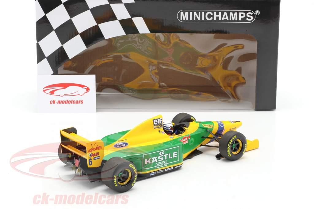 Riccardo Petrese Benetton B193B #6 3ro británico GP fórmula 1 1993 1:18 Minichamps