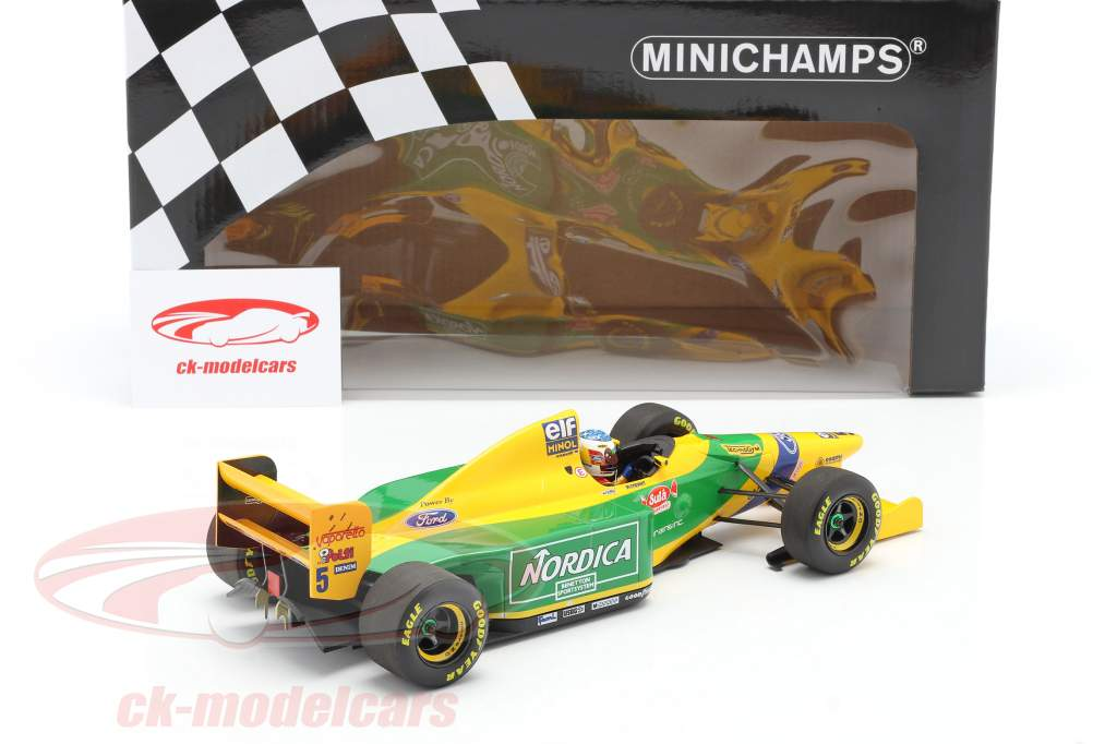 Michael Schumacher Benetton B193B #5 winnaar Portugal GP F1 1993 1:18 Minichamps