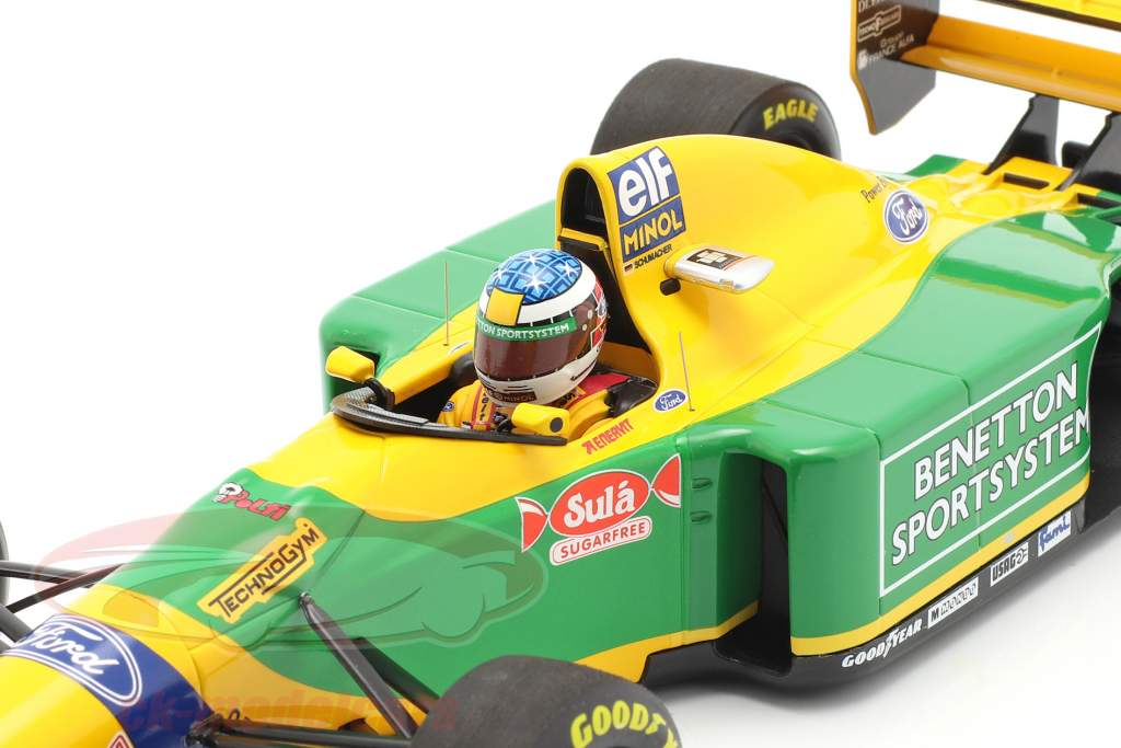 Michael Schumacher Benetton B193B #5 2nd San Marino GP F1 1993 1:18 Minichamps