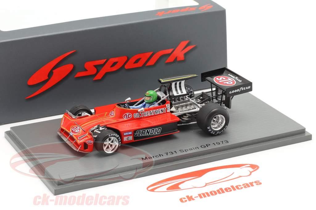 Henri Pescarolo March 731 #11 Spanish GP formula 1 1973 1:43 Spark