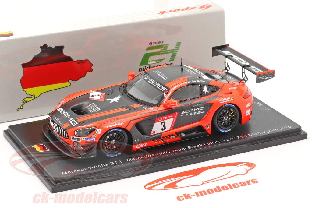 Mercedes-Benz AMG GT3 #3 2 ° 24h Nürburgring 2019 Team Black Falcon 1:43 Spark