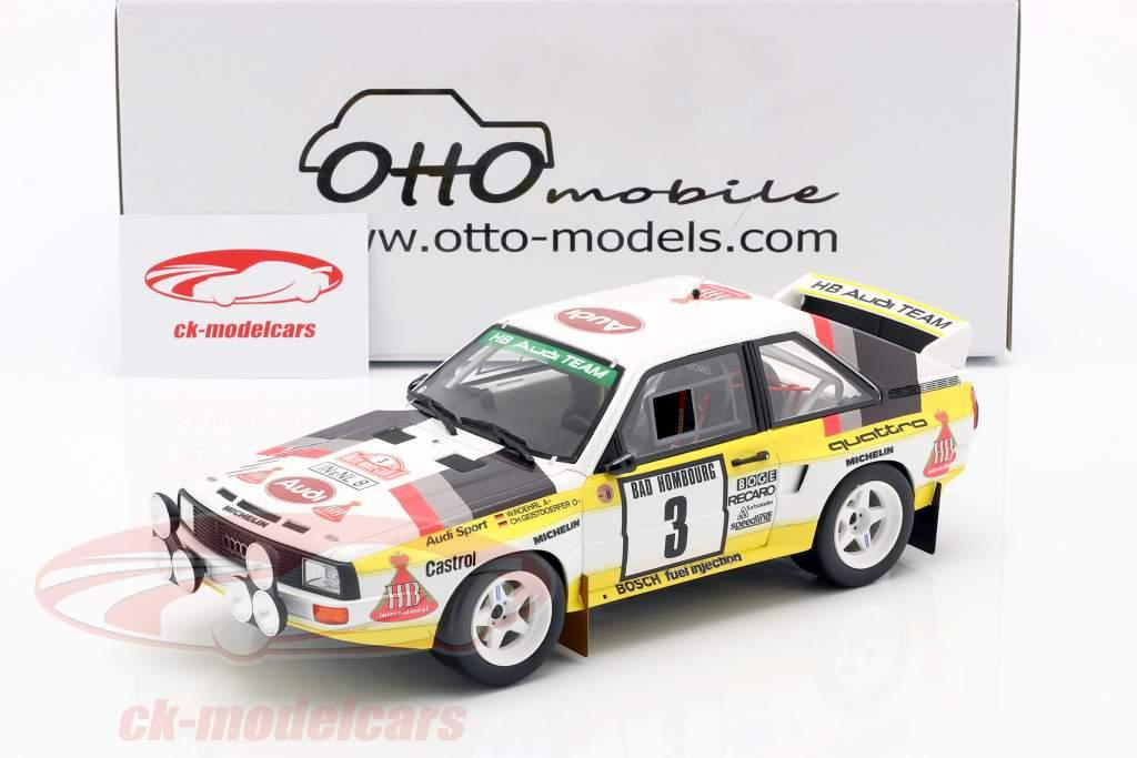 Audi Sport Quattro Gr. B #3 3. RMC Rallye 1985 Röhrl, Geistdörfer 1:18 OttOmobile