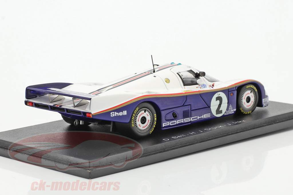 Porsche 962C #2 3 ° 24h LeMans 1985 Bell, Stuck, Ickx 1:43 Spark