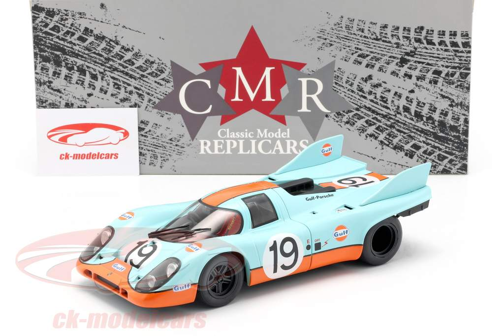 Porsche 917K Gulf #19 2do 24h LeMans 1971 Attwood, Müller 1:18 CMR