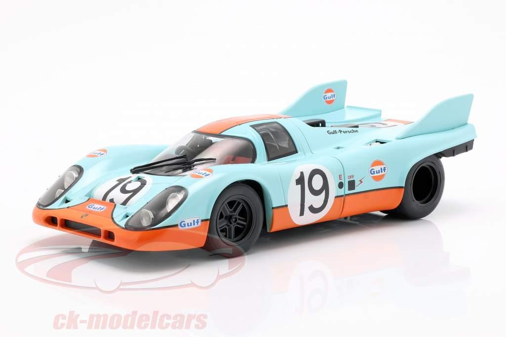 Porsche 917K Gulf #19 2nd 24h LeMans 1971 Attwood, Müller 1:18 CMR