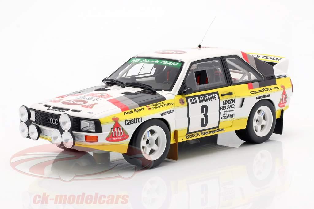 Audi Sport Quattro Gr. B #3 2nd Rallye Monte Carlo 1985 Röhrl, Geistdörfer 1:18 OttOmobile