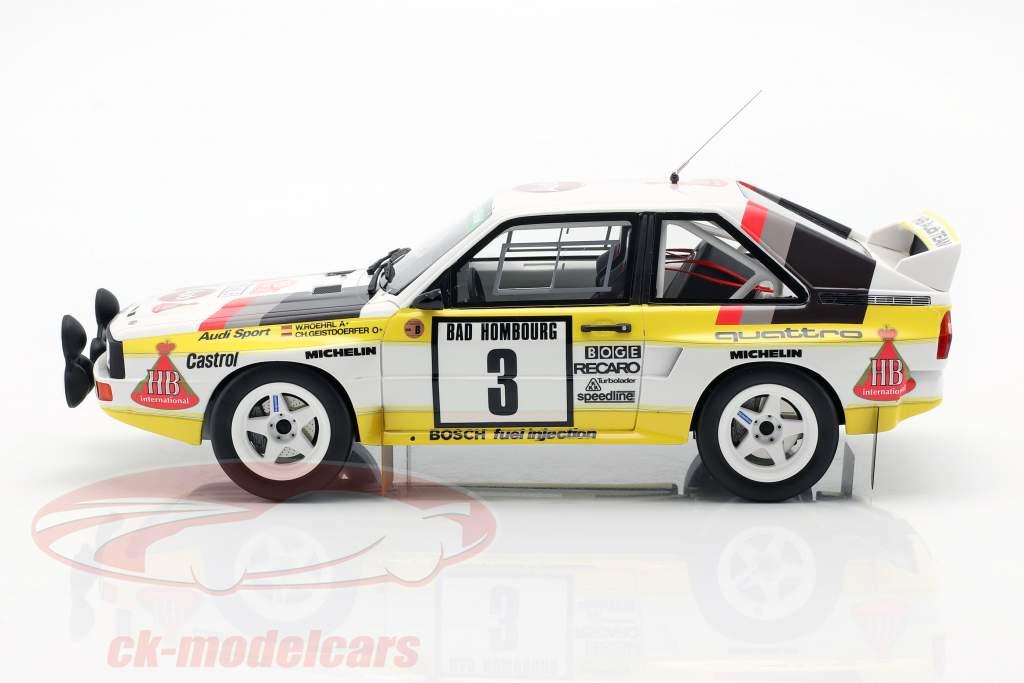Audi Sport Quattro Gr. B #3 3rd RMC Rally 1985 Röhrl, Geistdörfer 1:18 OttOmobile