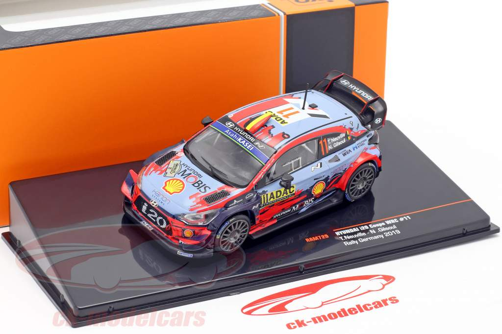 Hyundai i20 Coupe WRC #11 4to Rallye Alemania 2019 Neuville, Gilsoul 1:43 Ixo
