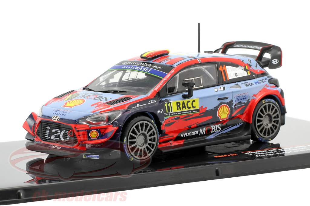 Hyundai i20 Coupe WRC #11 vencedora Rallye Catalunya 2019 Neuville, Gilsoul 1:43 Ixo