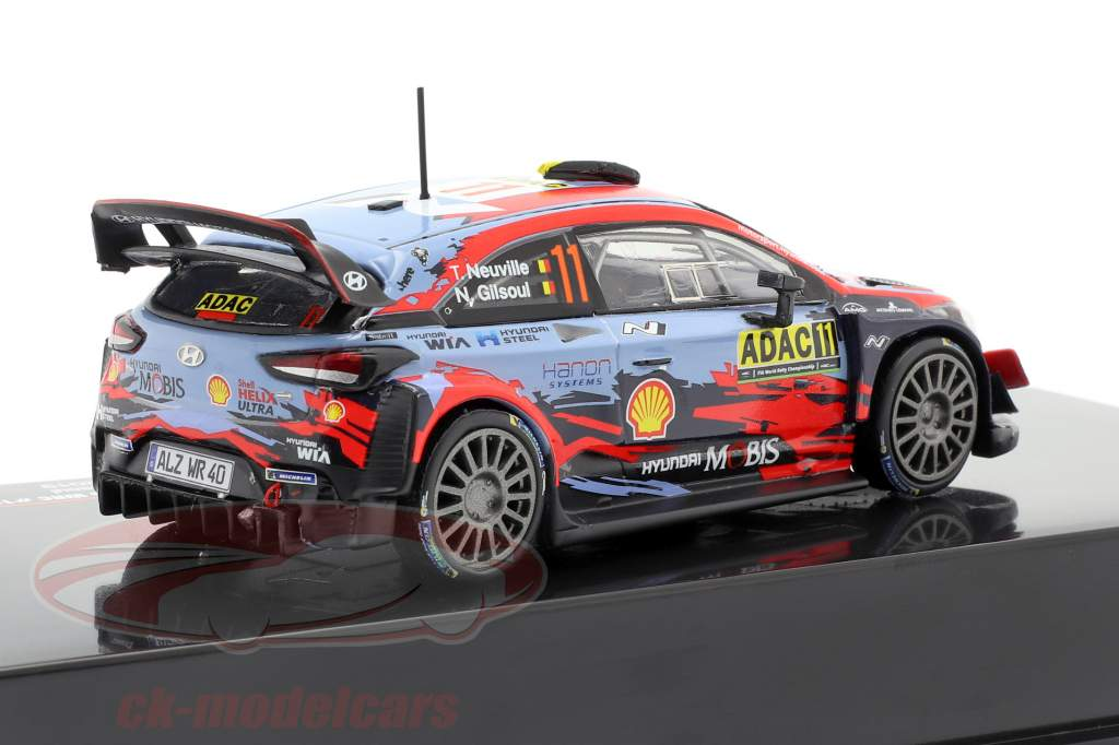 Hyundai i20 Coupe WRC #11 4th Rallye Deutschland 2019 Neuville, Gilsoul 1:43 Ixo
