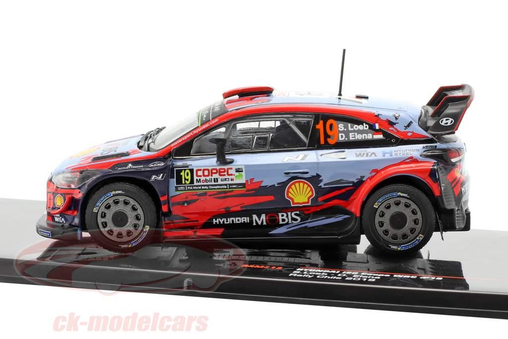 Hyundai i20 Coupe WRC #19 3 ° Rallye Chile 2019 Loeb, Elena 1:43 Ixo