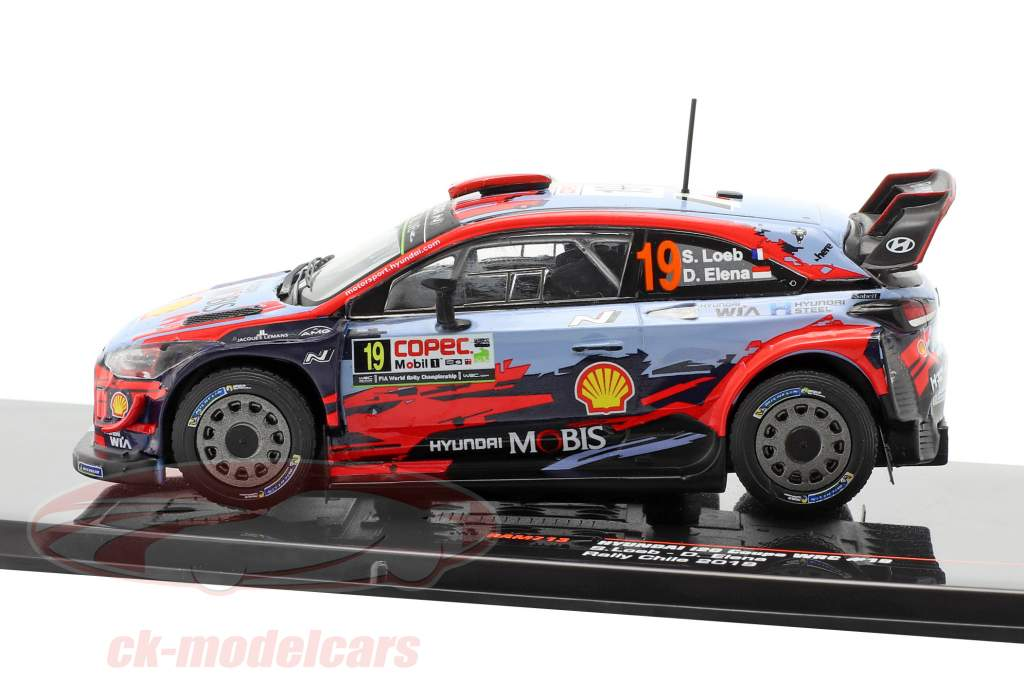 Hyundai i20 Coupe WRC #19 3rd Rallye Chile 2019 Loeb, Elena 1:43 Ixo