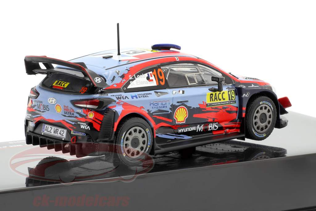 Hyundai i20 Coupe WRC #19 4to Rallye Catalunya 2019 Loeb, Elena 1:43 Ixo