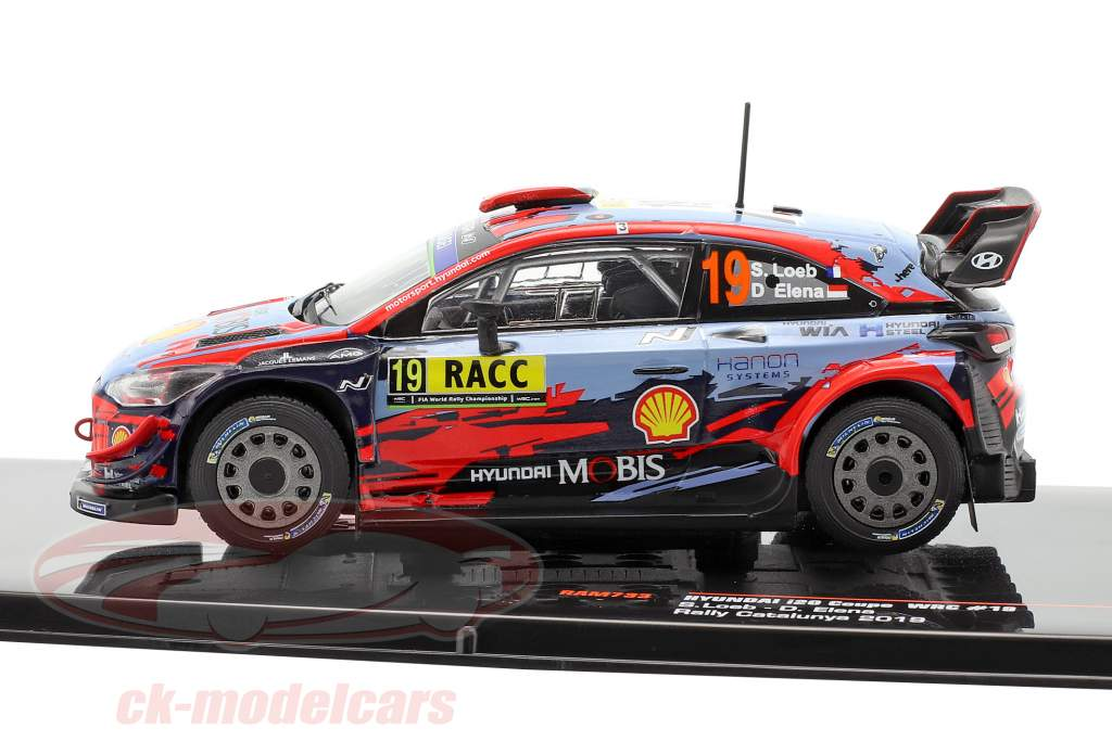 Hyundai i20 Coupe WRC #19 4th Rallye Catalunya 2019 Loeb, Elena 1:43 Ixo