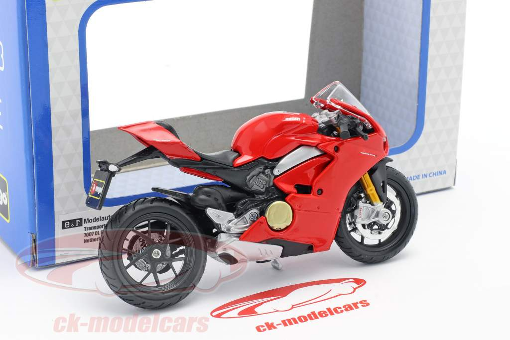 Ducati Panigale V4 vermelho 1:18 Bburago