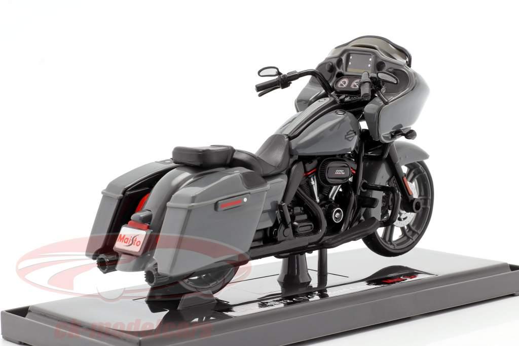 Harley Davidson CVO Road Glide Byggeår 2018 Grå / sort 1:18 Maisto