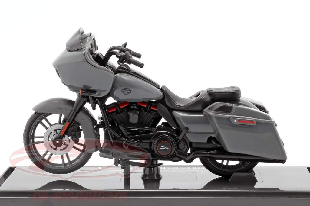 Harley Davidson CVO Road Glide Année de construction 2018 gris / noir 1:18 Maisto