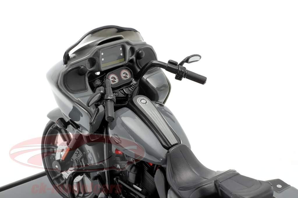 Harley Davidson CVO Road Glide Bouwjaar 2018 Grijs / zwart 1:18 Maisto