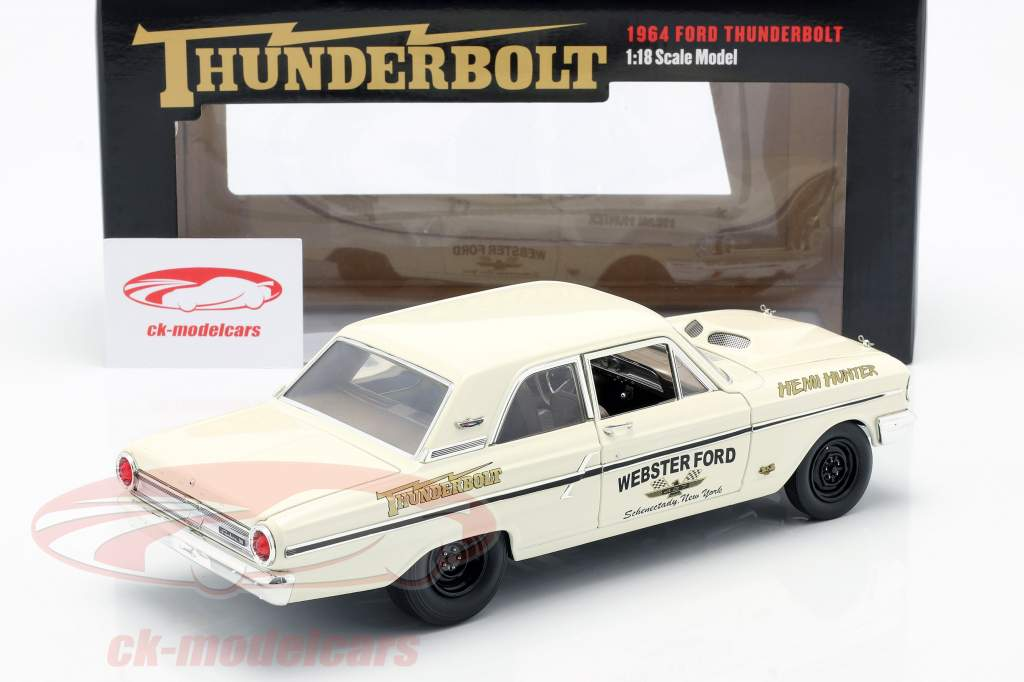 Ford Thunderbolt Hemi Hunter 1964 crema Blanco / oro 1:18 GMP