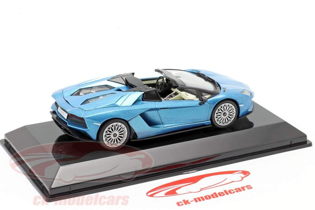 Lamborghini Aventador S Roadster Bouwjaar 2017 blauw metalen 1:43 Altaya