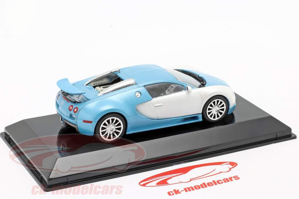 Bugatti Veyron 16.4 Anno di costruzione 2005 bianco opaco / Azzurro 1:43 Altaya
