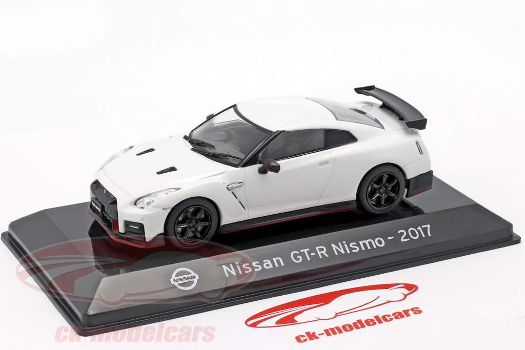 Nissan GT-R Nismo R35 Byggeår 2017 hvid 1:43 Altaya