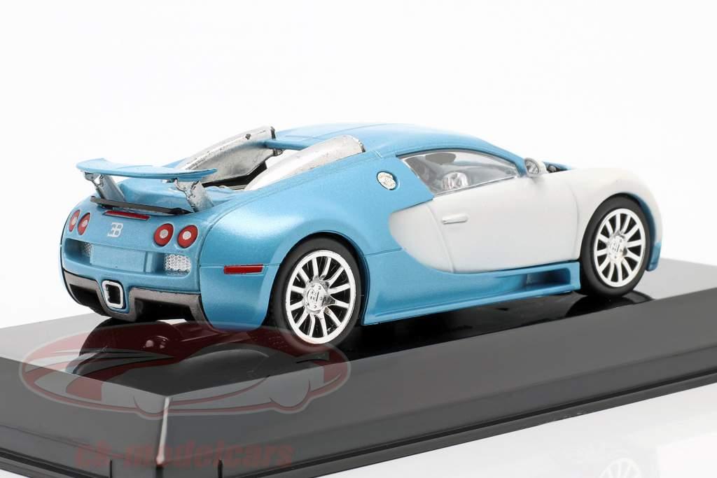 Bugatti Veyron 16.4 year 2005 mat white / light blue 1:43 Altaya