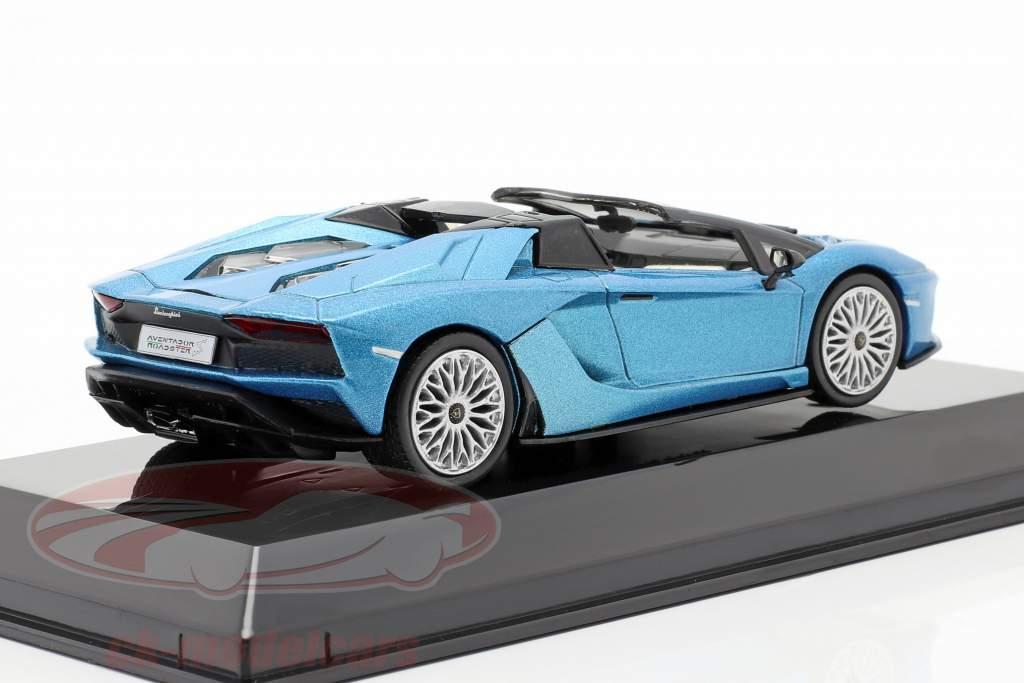 Lamborghini Aventador S Roadster Byggeår 2017 blå metallisk 1:43 Altaya