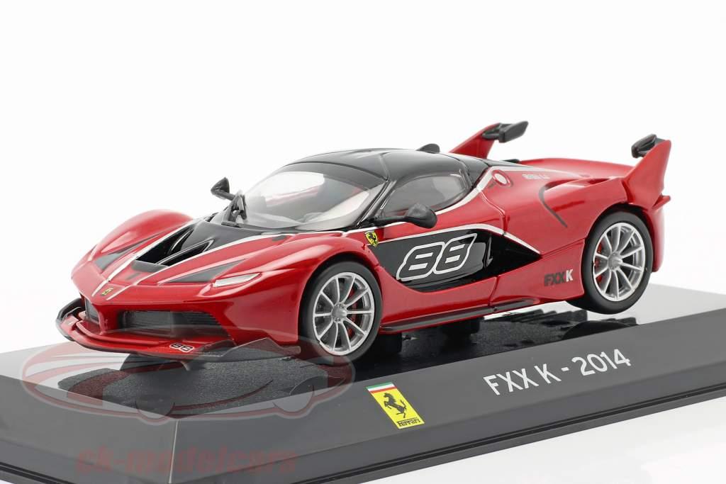 Ferrari FXX K #88 Année de construction 2014 rouge / noir 1:43 Altaya