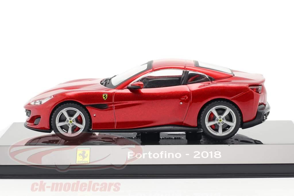 Ferrari Portofino jaar 2018 rood 1:43 Altaya