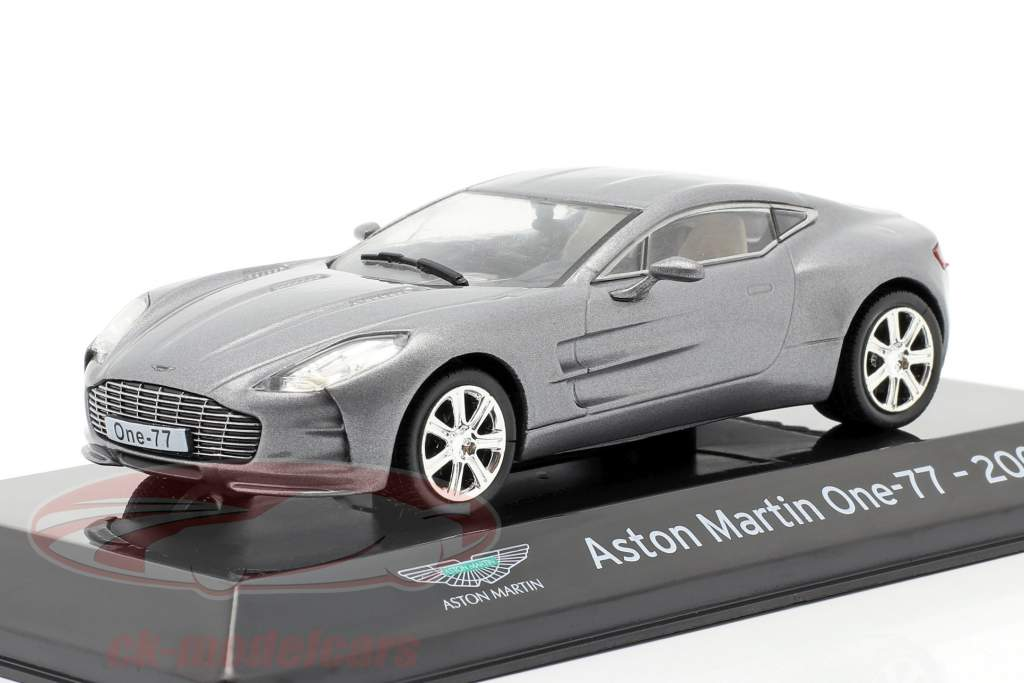 Aston Martin One-77 Anno di costruzione 2009 grigio argento metallico 1:43 Altaya